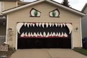 Your garage door will look amazing this Halloween!