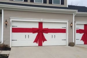 Don't forget your garage door when decorating for the holidays!